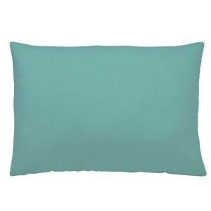 Sea green linen pillowcase